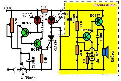 schema Timer programabil cu alarma
