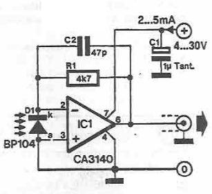 Schema electronica Microfon pentru infrarosii