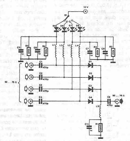 Schema electronica comutator eletronic de antena