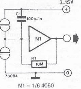 Comutator cu sensor de atingere foarte simplu cu CMOS