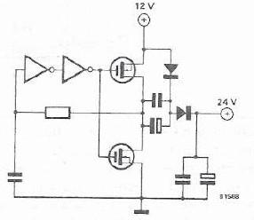 Schema electronica convertor 12 24 volti
