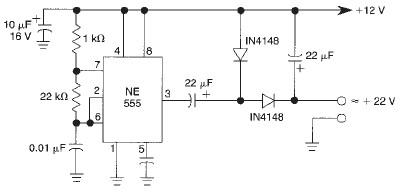 Schema electronica dublor de tensiune cu timer 555