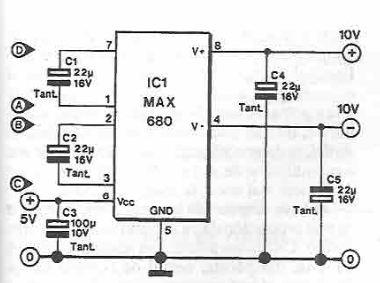 schema Dublor de tensiune simetric cu MAX680