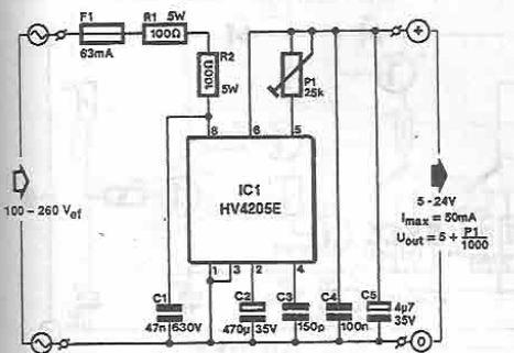HV2405E stabilizator fara transformator