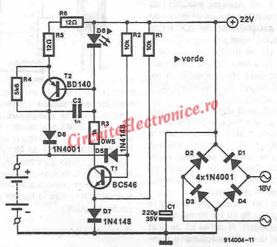 Schema Incarcator baterii 12V