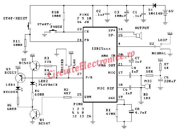 ISD25120 circuit de