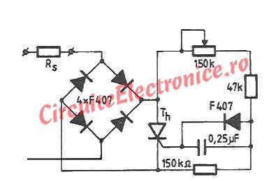 Circuit variator de tensiune 0-220V cu tiristor