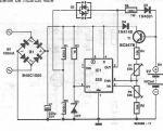 schema electronica incarcator pentru baterii NiCd
