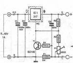 schema Incarcarea bateriilor cu acid utilizand LM317