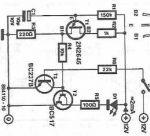 LED flasher cu tranzistori