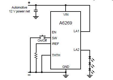 Circuit driver pentru LED-uri utilizand A6269