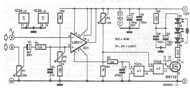 schema Emitator in infrarosu pentru semnal audio