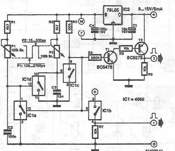 Schema generator de impulsuri