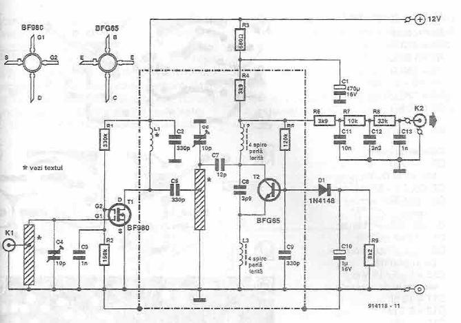 schema electronica Radio receptor de telecomanda