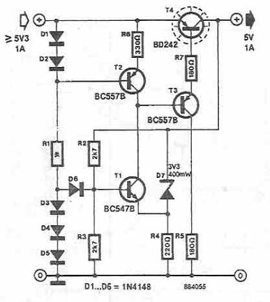 Schema regulator de tensiune 5V 1A