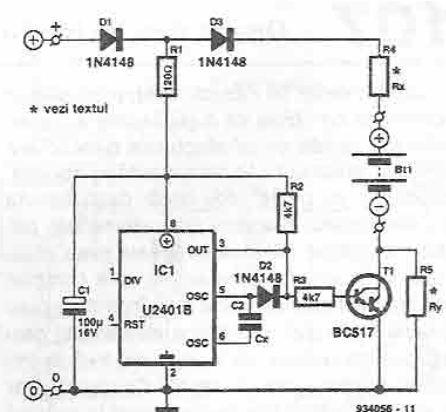 Incarcator pentru baterii button cell
