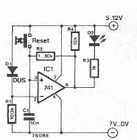 schema electronica Indicator de cadere a tensiunii