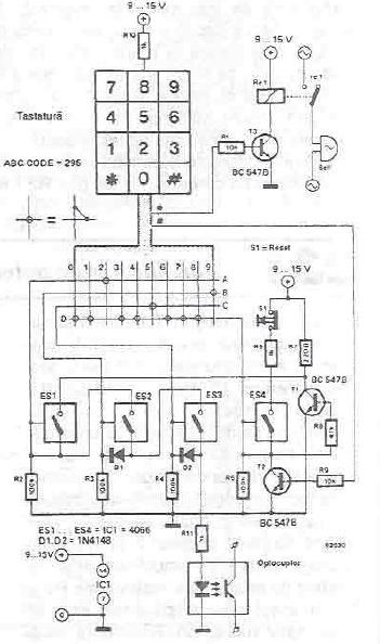Schema lacat electronic simplu cu CMOS