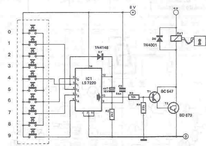 Schema electronica lacat electronic cu LS7220