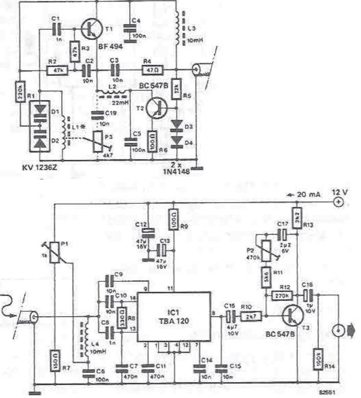 schema electronica Radioreceptor AM cu TBA120