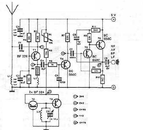 Schema electronica radioreceptor fm cu tranzistori