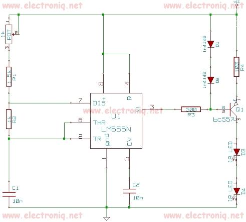 Schema electronica remote jammer cu timer 555