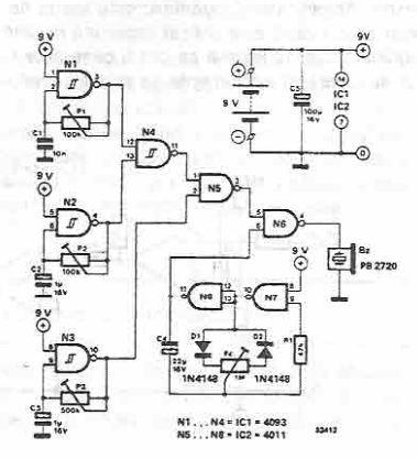 schema Greier electronic cu CMOS