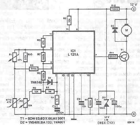 Schema Regulator temperatura cu L121
