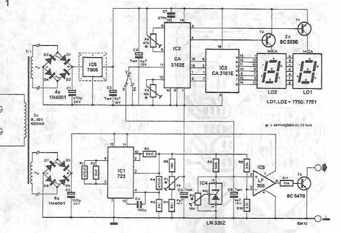 Schema electronica Termometru electronic