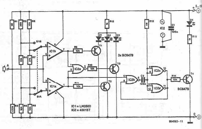 Schema electronica tester logic