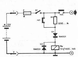 schema electronica circuit Protectie de polaritate pentru sursa 12V