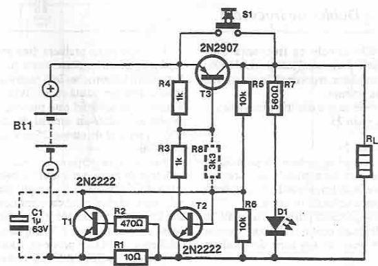 schema Siguranta electronica cu tranzistori