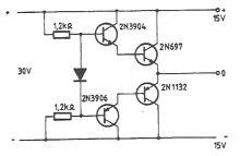 Schema circuit sursa simetrica dubla 15V