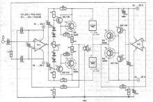 schema electronica Amplificator in clasa A realizat cu TDA1034