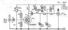 Schema electronica amplificator de radiofrecventa pentru banda de 10 metri