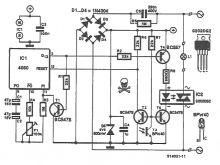 Schema comutator sensibil la lumina