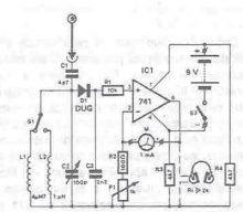 Schema electronica detector radiatii RF