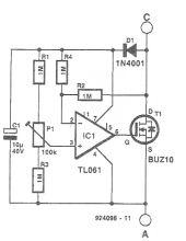 Circuit echivalent dioda cu cadere redusa de tensiune