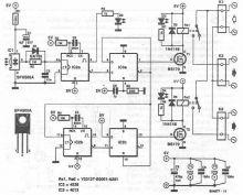 Schema comutator IR cu SFH505A