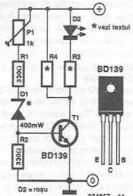 Circuit electronic de descarcare a acumulatorilor