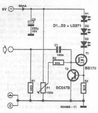 schema Emitator audio IR pentru casti