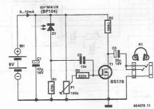 schema Receptor audio IR pentru casti