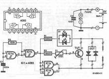 Schema tester pentru semiconductoare