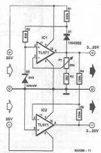 schema Sursa de alimentare simetrica cu TL071