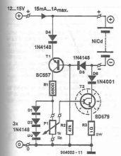 Schema Incarcator pentru NiCd NiMh