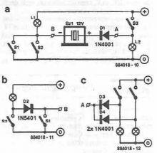 Circuit indicator cu buzzer
