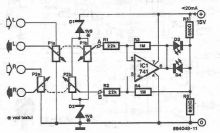 Schema electronica indicator de balans cu AO