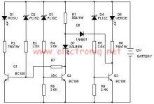Schema electronica Tester stare baterie