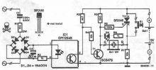 Schema circuit indicator al prezentei tensiunii de retea