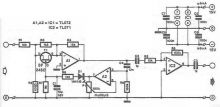 schema Limitator electronic de volum realizat cu tranzistori FET